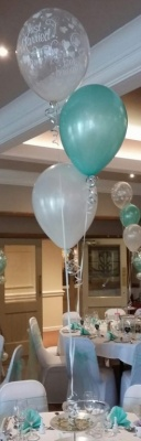 Mint Wedding 3 Balloon Table Dec - £6.25