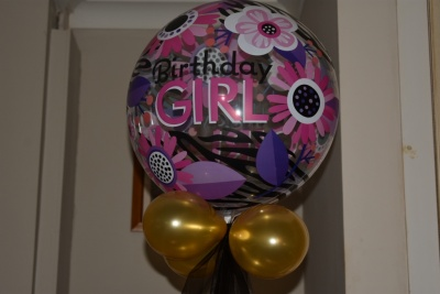 Birthday Girl Bubble Balloon