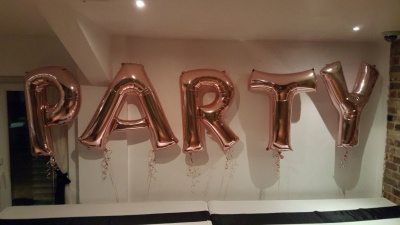 Rose Gold Foil Letters Party