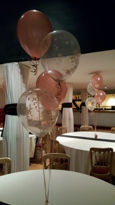 Rose Gold Helium Balloon Decoration