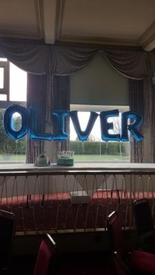 Large Foil Letters blue Oliver