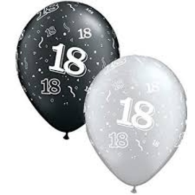18th Latex Balloons