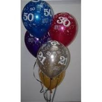 Latex Balloon Numbers