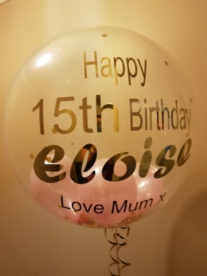 Personalised Bubble Balloon 15th Birthday