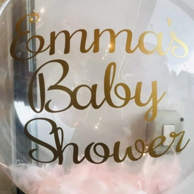 Baby Shower Bubble Balloon Personalised