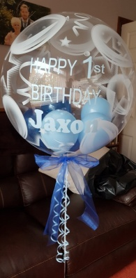 Personalised Bubble Balloon 1st Birthday