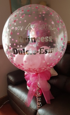 Personalised 4th Birthday Princess Bubble Balloon