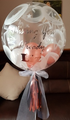 Missing You Personalised Bubble