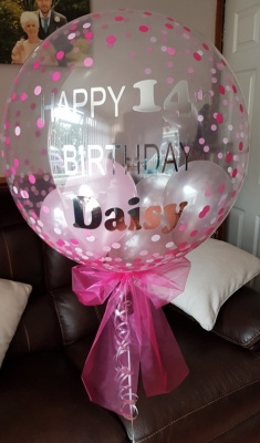 Personalised happy 14th Bubble Balloon