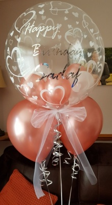 Personalised Heart Bubble Balloon