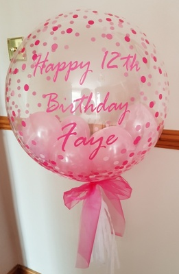 Personalised Bubble Balloon 12th Birthday